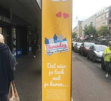 Gemeente Amsterdam banier burendag