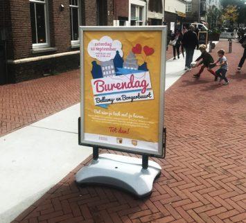 Gemeente Amsterdam stoepbord burendag